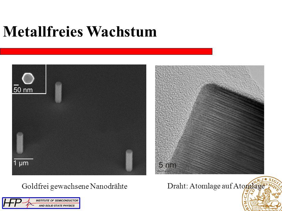 Metallfreies Wachstum Draht: Atomlage auf Atomlage Goldfrei gewachsene Nanodrähte