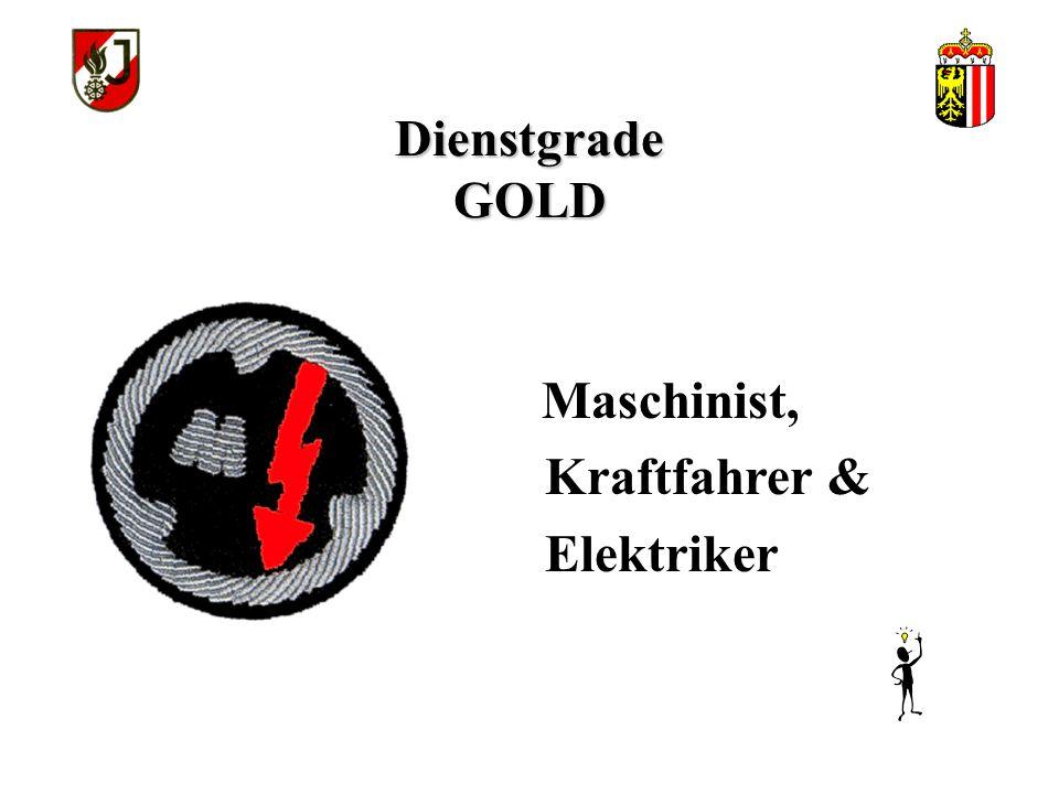 Dienstgrade GOLD Kraftfahrer & Elektriker