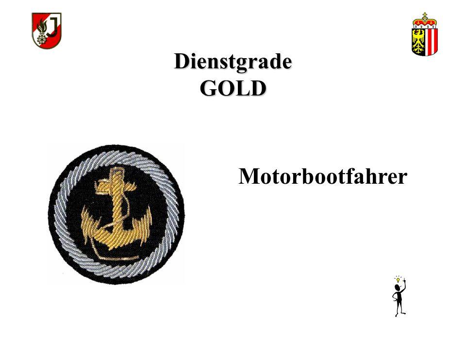 Dienstgrade GOLD Zillenfahrer