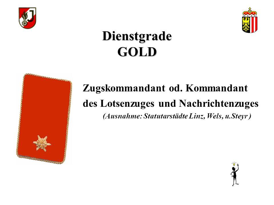 Dienstgrade GOLD >Gruppenkommandanten (Kommandant der Löschgruppe bzw. Tanklöschgruppe und Kommandant der Lotsen und Nachrichtengruppe) >Stellvertrete