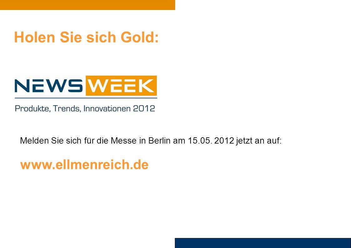 Holen Sie sich Gold: Melden Sie sich für die Messe in Berlin am 15.05.