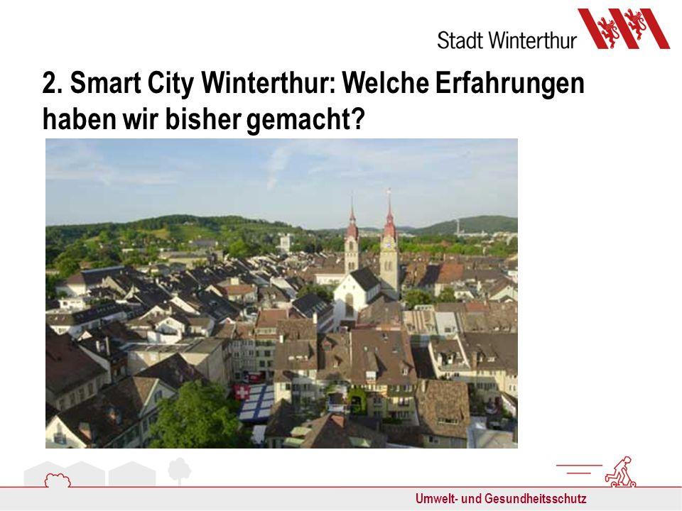 Umwelt- und Gesundheitsschutz 2. Smart City Winterthur: Welche Erfahrungen haben wir bisher gemacht?