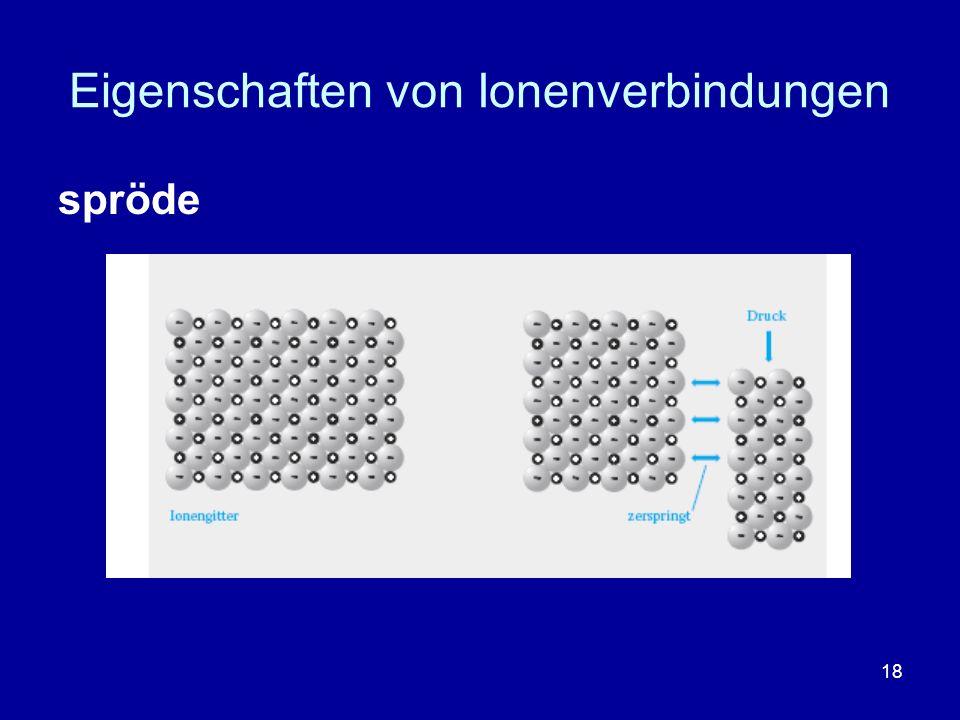 18 Eigenschaften von Ionenverbindungen spröde