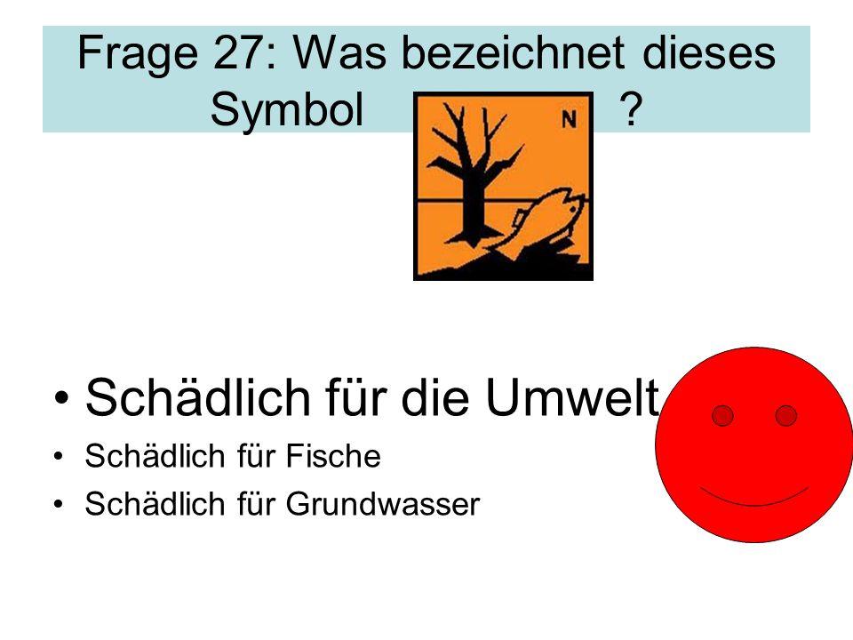 Frage 27: Was bezeichnet dieses Symbol .