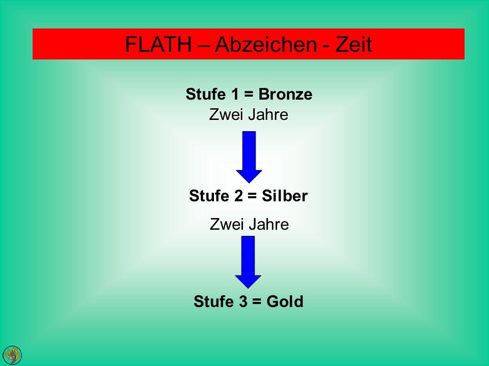 FLATH – Abzeichen - Zeit Stufe 1 = Bronze Stufe 2 = Silber Stufe 3 = Gold Zwei Jahre