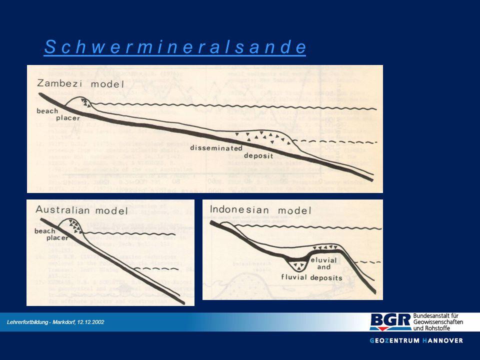 Lehrerfortbildung - Markdorf, 12.12.2002 S c h w e r m i n e r a l s a n d e