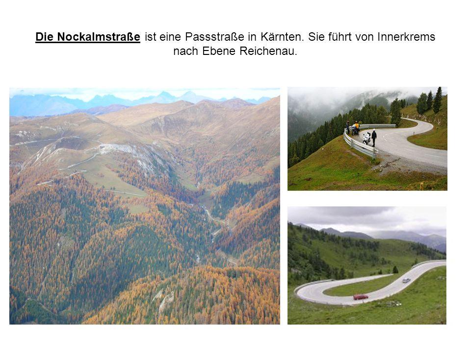 Die Nockalmstraße ist eine Passstraße in Kärnten. Sie führt von Innerkrems nach Ebene Reichenau.