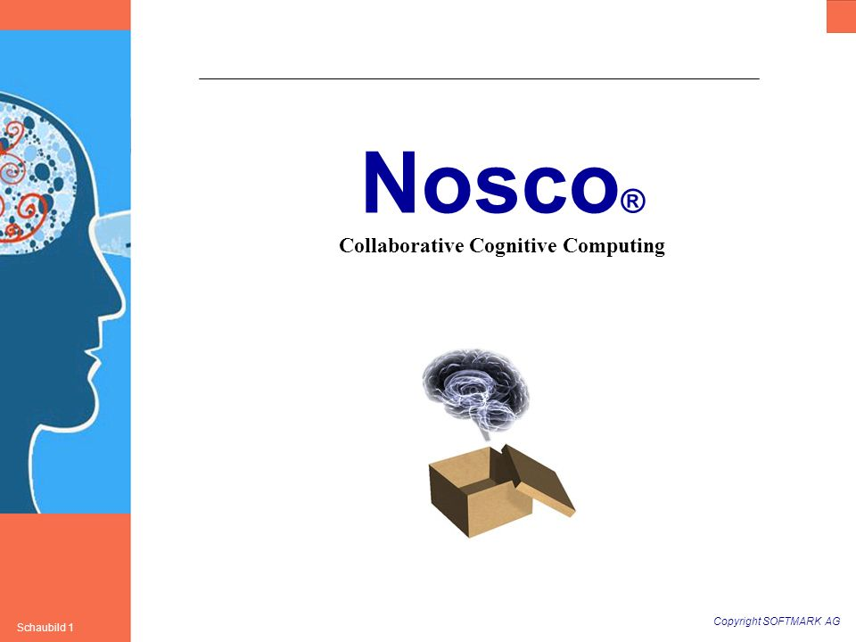Copyright SOFTMARK AG Schaubild 1 Nosco ® Collaborative Cognitive Computing
