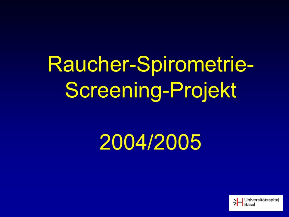 Raucher-Spirometrie- Screening-Projekt 2004/2005