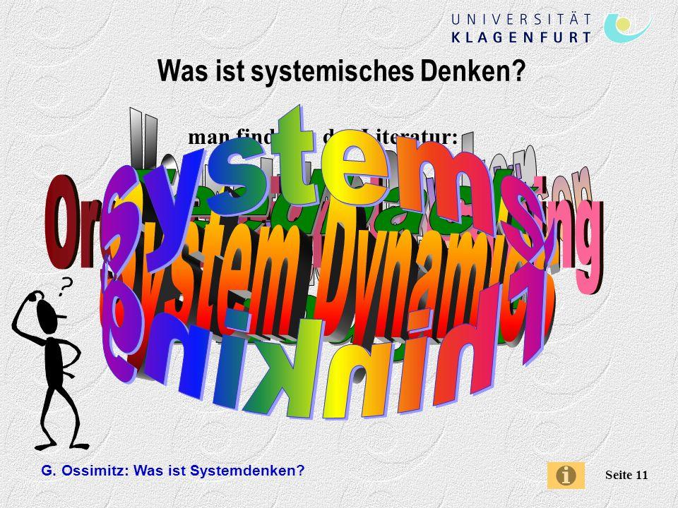 G.Ossimitz: Was ist Systemdenken.