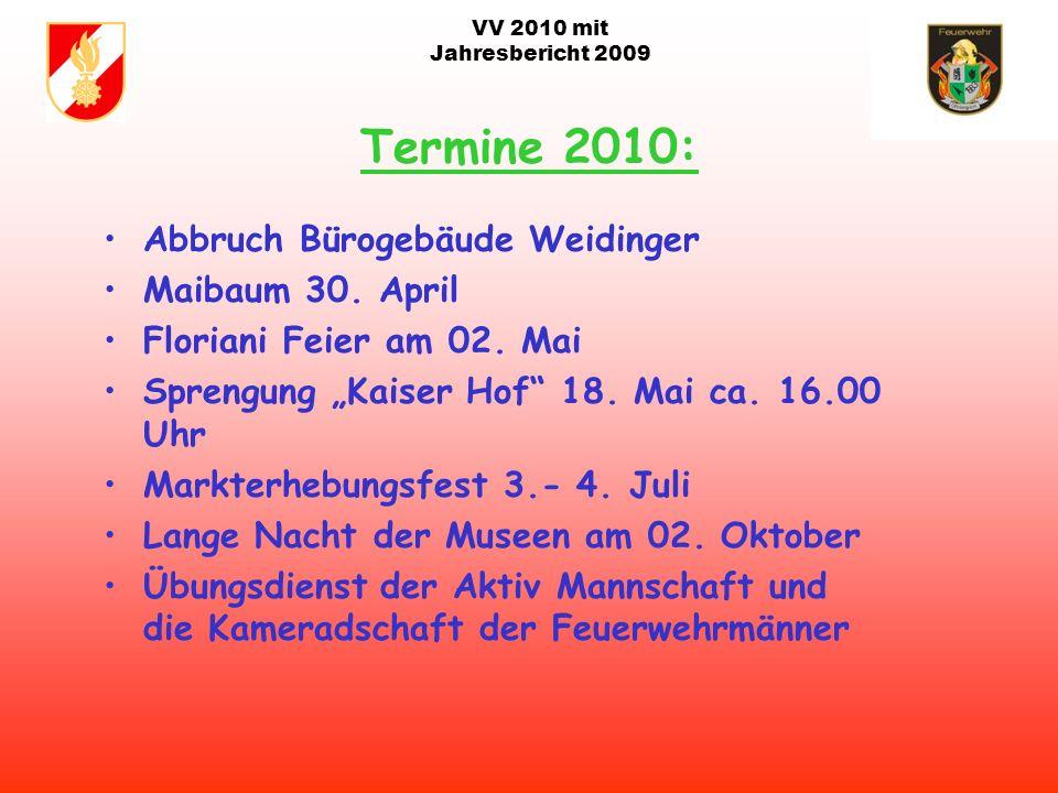 VV 2010 mit Jahresbericht 2009