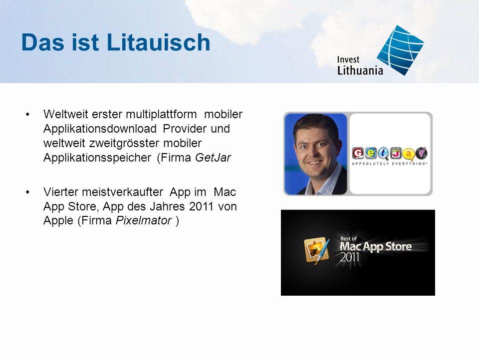Weltweit erster multiplattform mobiler Applikationsdownload Provider und weltweit zweitgrösster mobiler Applikationsspeicher (Firma GetJar Vierter mei