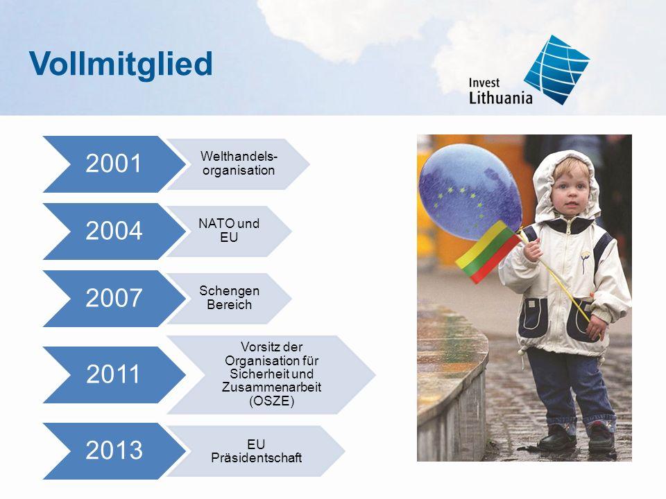 2001 Welthandels- organisation 2004 NATO und EU 2007 Schengen Bereich 2011 Vorsitz der Organisation für Sicherheit und Zusammenarbeit (OSZE) 2013 EU P