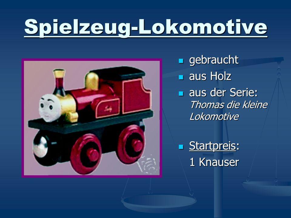Spielzeug-Lokomotive gebraucht aus Holz aus der Serie: Thomas die kleine Lokomotive Startpreis: 1 Knauser