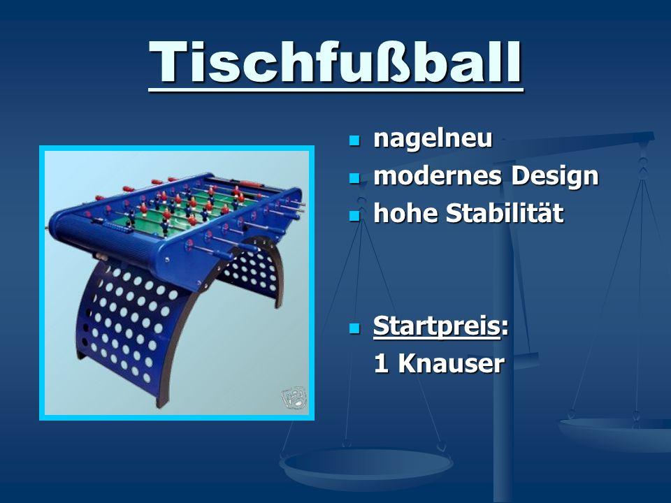 Tischfußball nagelneu modernes Design hohe Stabilität Startpreis: 1 Knauser