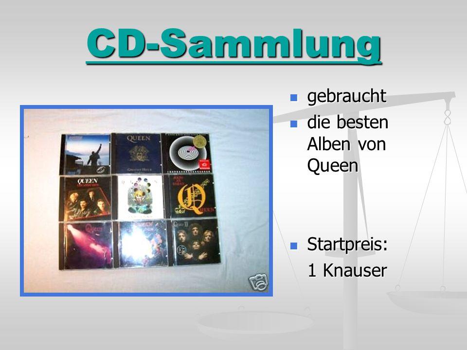 CD-Sammlung gebraucht gebraucht die besten Alben von Queen die besten Alben von Queen Startpreis: Startpreis: 1 Knauser