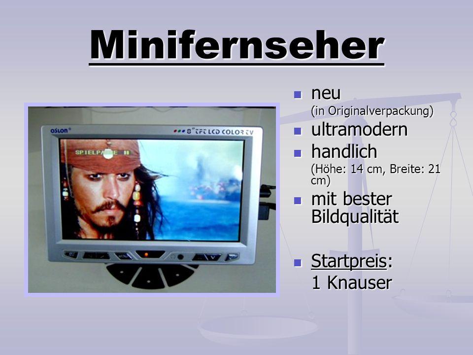 Minifernseher neu neu (in Originalverpackung) ultramodern ultramodern handlich handlich (Höhe: 14 cm, Breite: 21 cm) mit bester Bildqualität mit beste