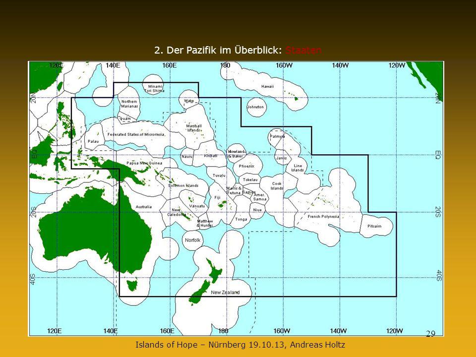 14.04.201429 2. Der Pazifik im Überblick: Staaten Islands of Hope – Nürnberg 19.10.13, Andreas Holtz 29