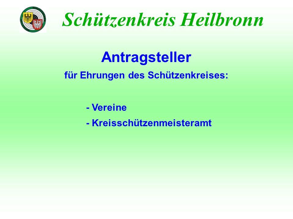 Besondere Ehrungen Schützenkreis Heilbronn - Ehrungen durch WLSB/ WSJ für die langjährige Ausübung eines Wahlamtes www.wlsb.de - Service & Beratung - Mitgliedschaft - Ehrungen - Landesehrennadel des Landes Baden-Württemberg für die langjährige Ausübung eines Wahlamtes (mind.