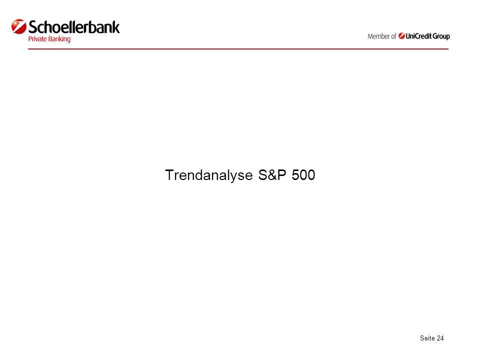 Seite 24 Trendanalyse S&P 500