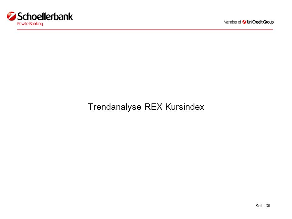 Seite 30 Trendanalyse REX Kursindex
