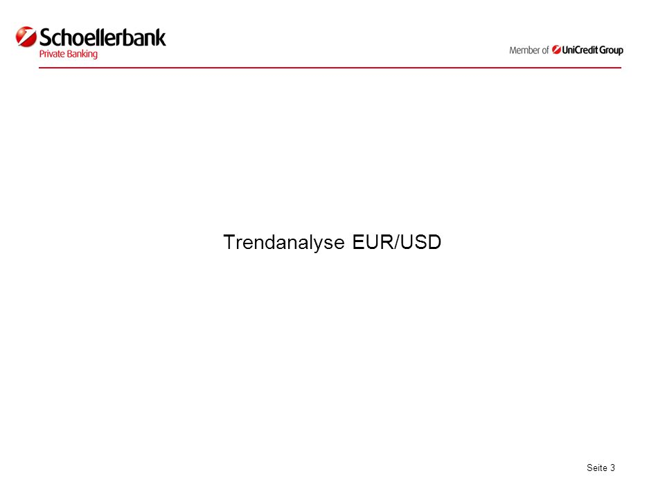 Seite 3 Trendanalyse EUR/USD