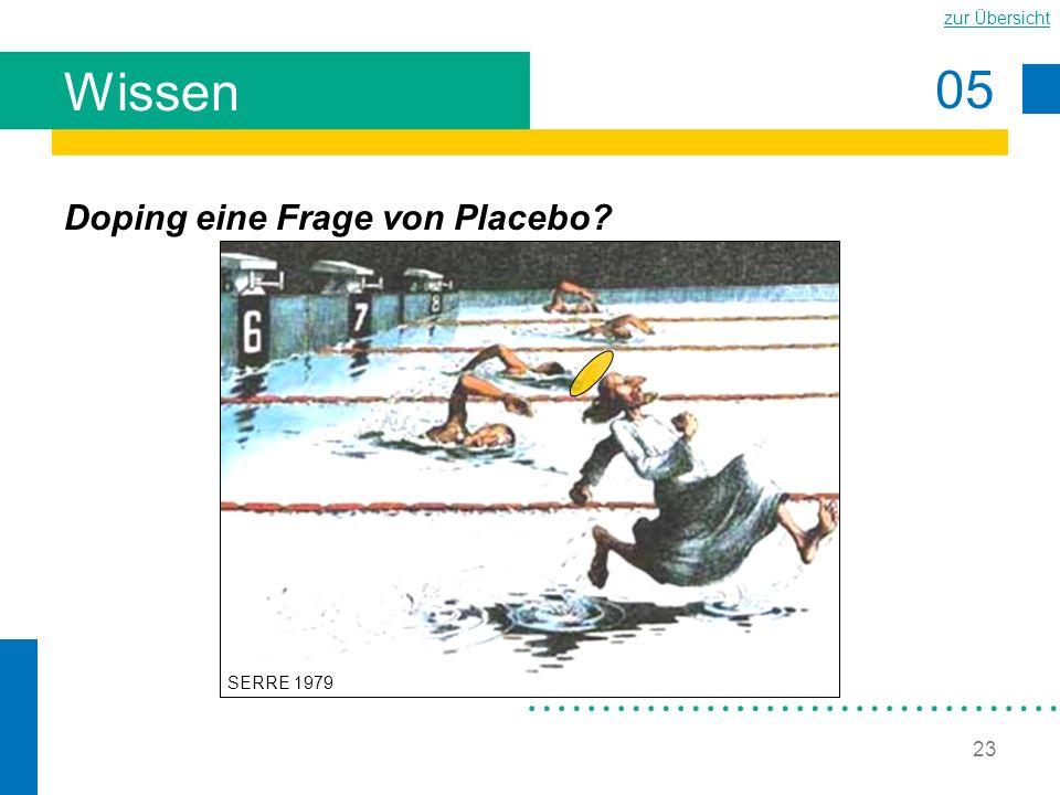 05 zur Übersicht 23 Wissen Doping eine Frage von Placebo? SERRE 1979