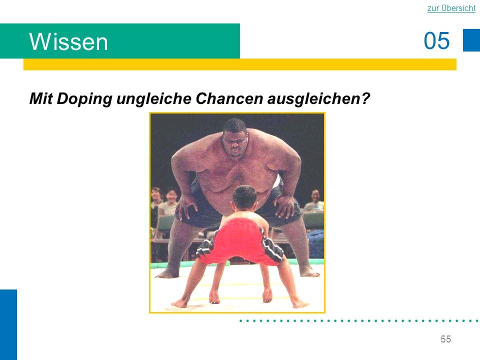 05 zur Übersicht 55 Wissen Mit Doping ungleiche Chancen ausgleichen?