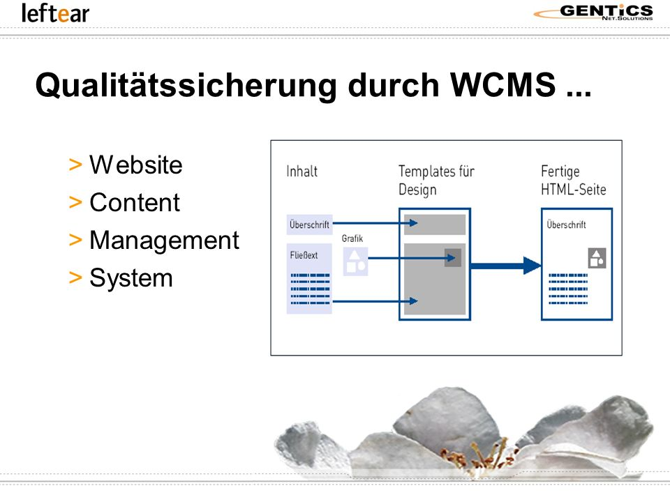 Qualitätssicherung durch WCMS... >Website >Content >Management >System
