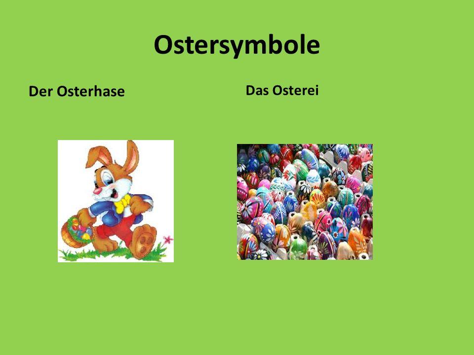 Ostersymbole Der Osterhase Das Osterei