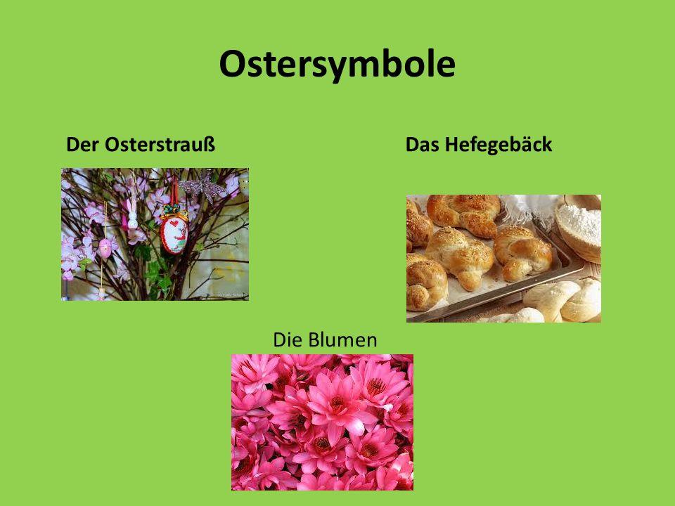 Ostersymbole Der Marienkäfer Das Osterküken Die Osterkarte
