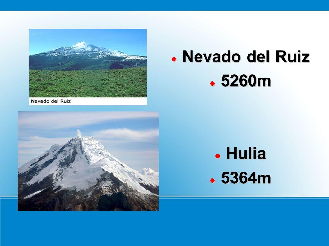 Nevado del Ruiz Nevado del Ruiz 5260m 5260m Hulia Hulia 5364m 5364m