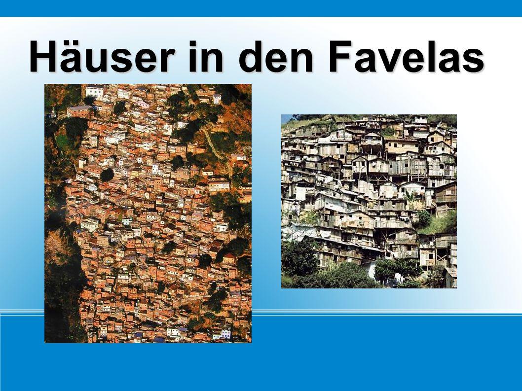 Häuser in den Favelas