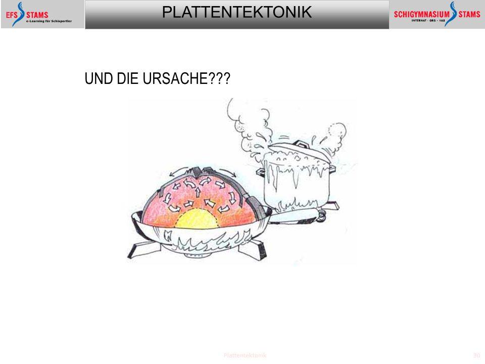 PLATTENTEKTONIK Plattentektonik30 UND DIE URSACHE???