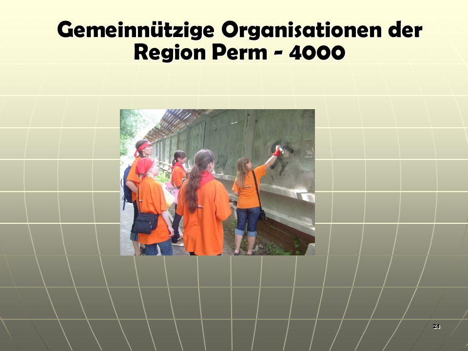 24 Gemeinnützige Organisationen der Region Perm - 4000