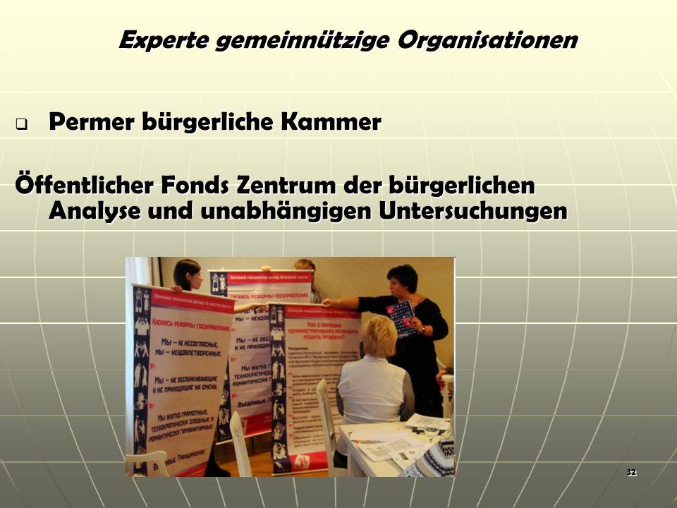 32 Permer bürgerliche Kammer Permer bürgerliche Kammer Öffentlicher Fonds Zentrum der bürgerlichen Analyse und unabhängigen Untersuchungen Experte gemeinnützige Organisationen