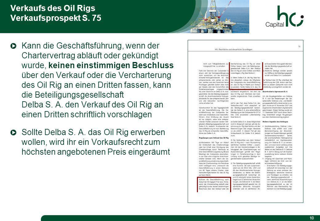 10 Verkaufs des Oil Rigs Verkaufsprospekt S.