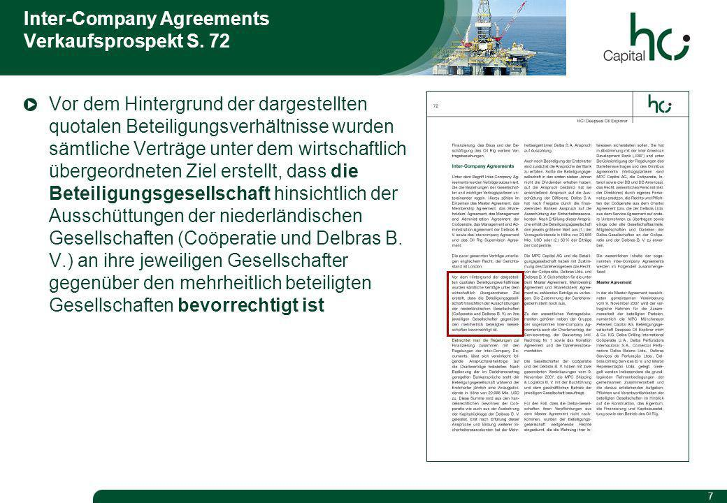 7 Inter-Company Agreements Verkaufsprospekt S.