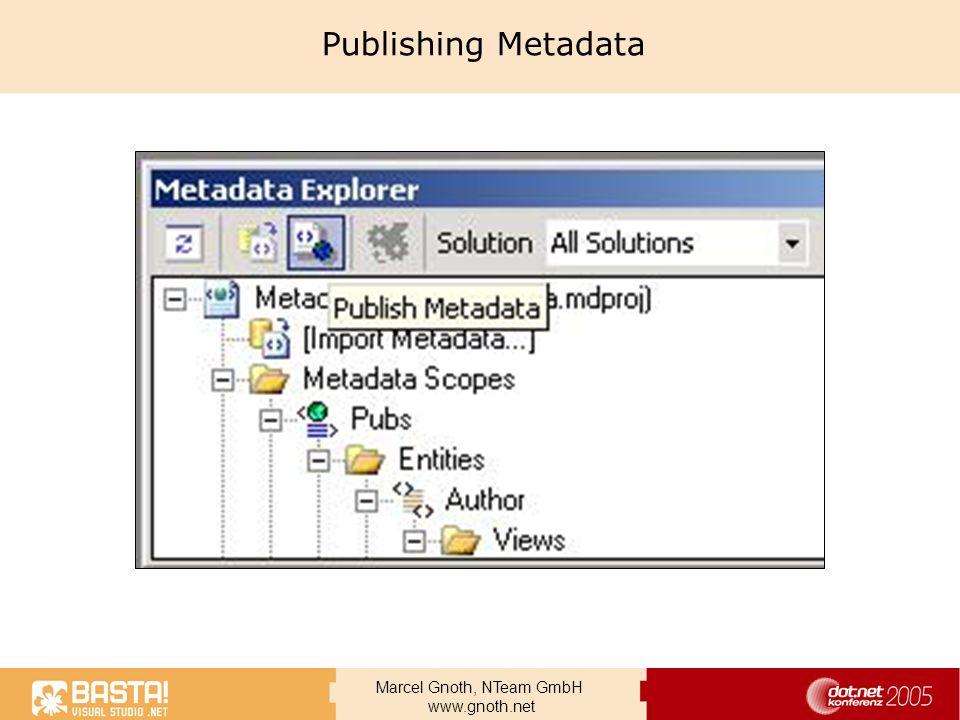 Marcel Gnoth, NTeam GmbH www.gnoth.net Publishing Metadata