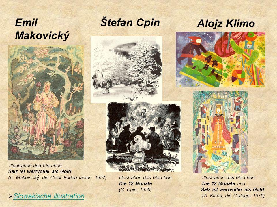 Alojz Klimo Illustration das Märchen Salz ist wertvoller als Gold (E. Makovický, die Color Federmanier, 1957) Illustration das Märchen Illustration da