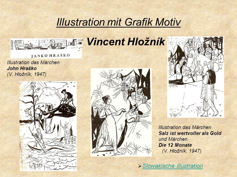 Jünger Illustratoren Die Titelseite der Kollektion der Slowakische Märchen und die illustration das Märchen Die verzauberte Anička (A.