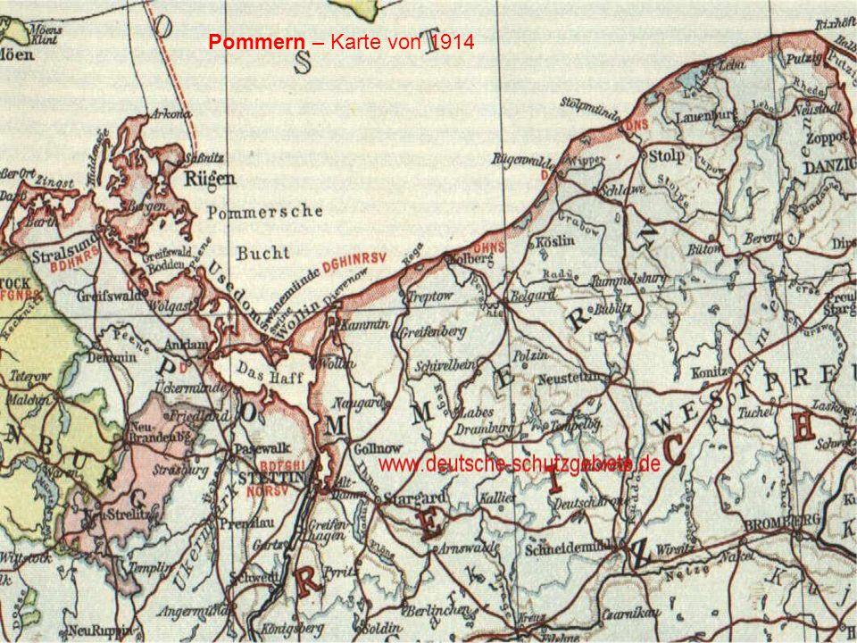 Pommern – Karte von 1914