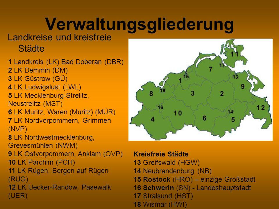 Mecklenburg und Vorpommern Mecklenburg-Vorpommern 1945 Auf Befehl der SMAD wird der Westteil der ehemals preußischen Provinz Pommern mit Ausnahme von Stettin an das Land Mecklenburg angeschlossen, das nun Teil der sowjetischen Besatzungszone ist.