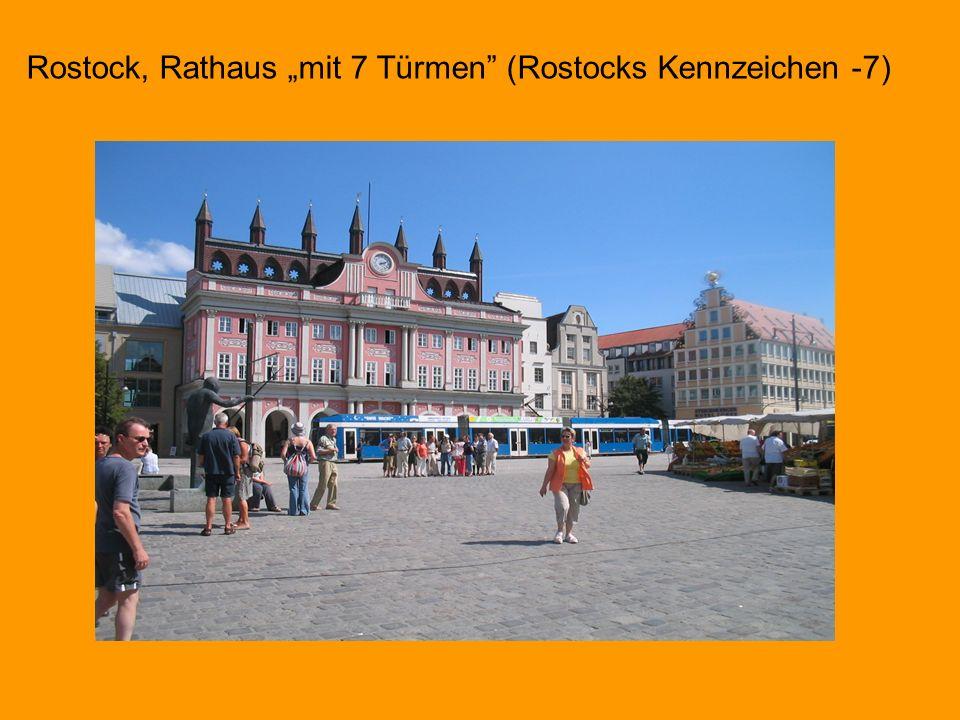 Rostock, Rathaus mit 7 Türmen (Rostocks Kennzeichen -7)