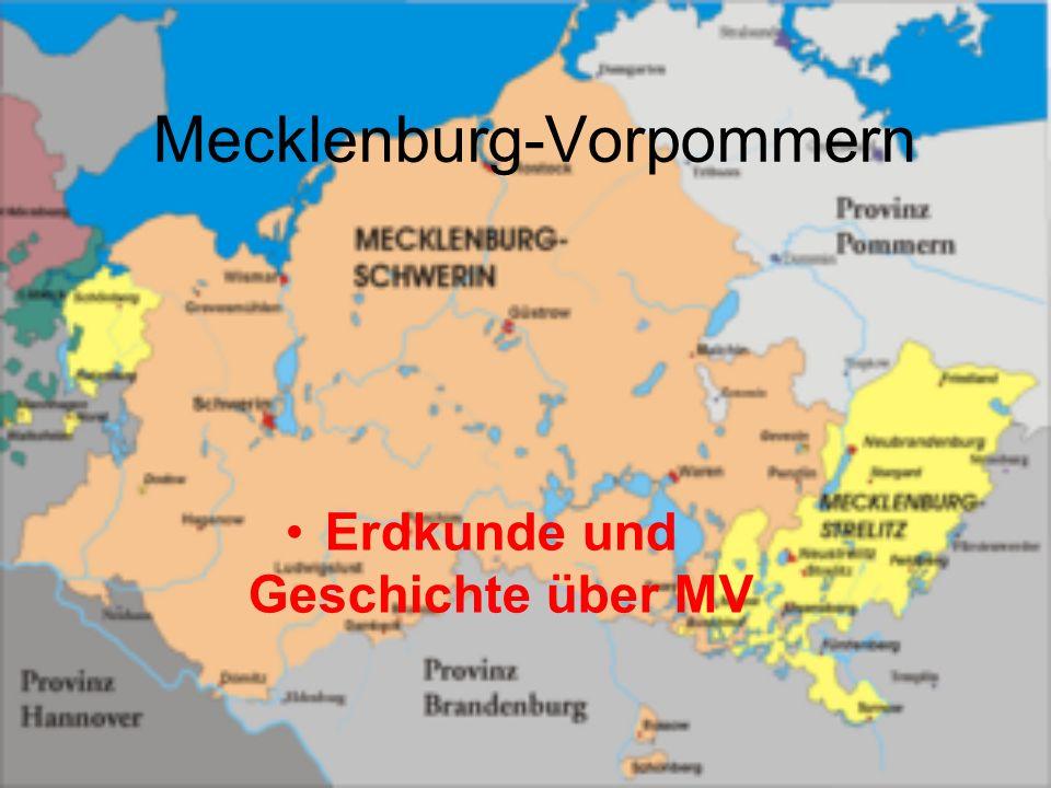 Mecklenburg-Vorpommern Erdkunde und Geschichte über MV