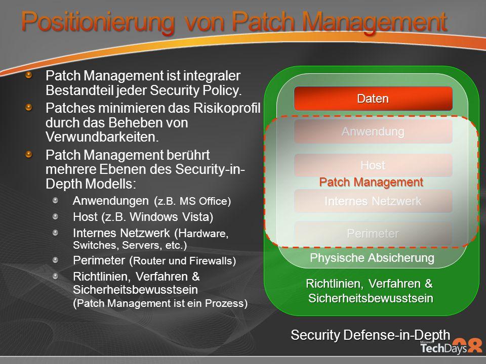 Patch Management ist integraler Bestandteil jeder Security Policy.