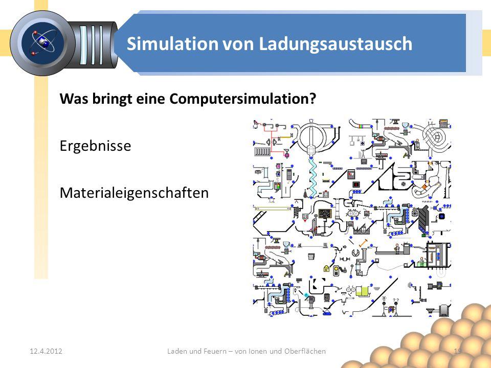 Simulation von Ladungsaustausch Was bringt eine Computersimulation.