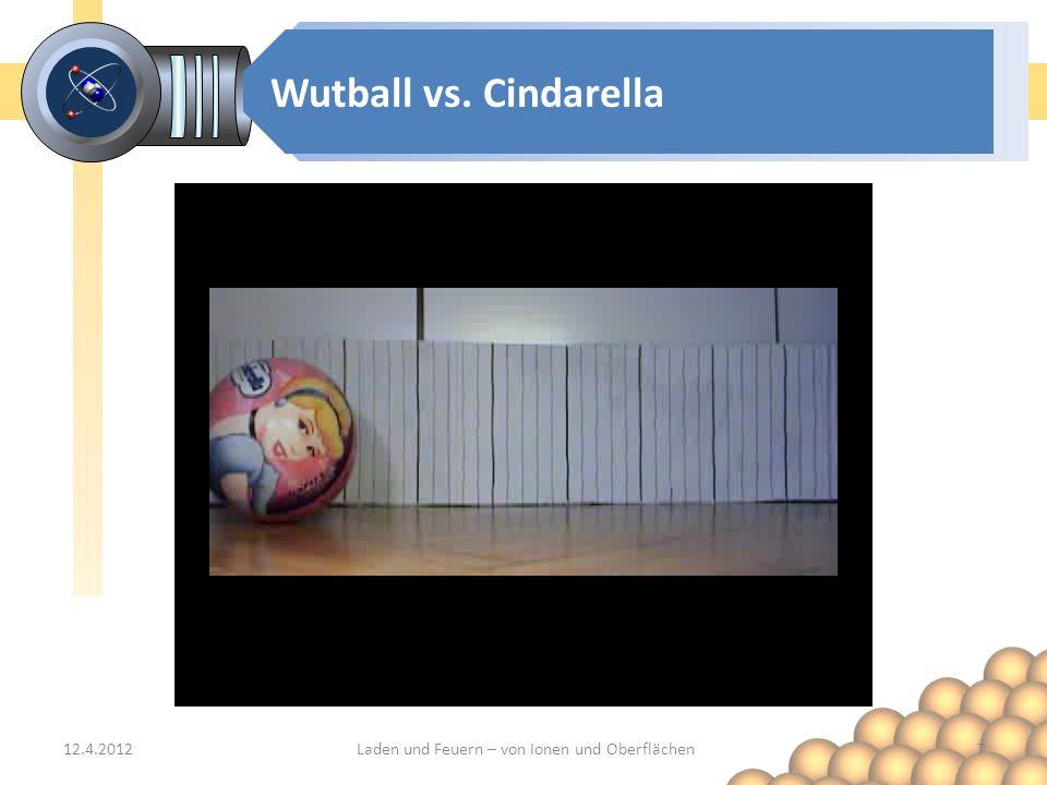 Wutball vs. Cindarella 12.4.2012Laden und Feuern – von Ionen und Oberflächen7