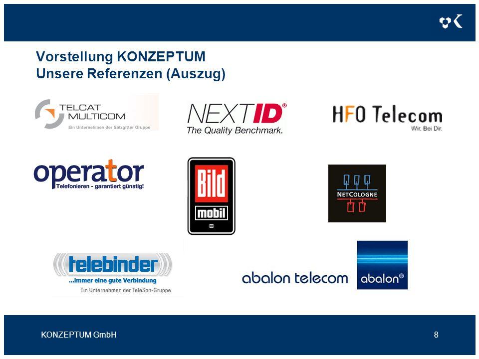 Vorstellung KONZEPTUM Vielen Dank für Ihre Aufmerksamkeit Kontakt KONZEPTUM GmbH Moselweißer Str.
