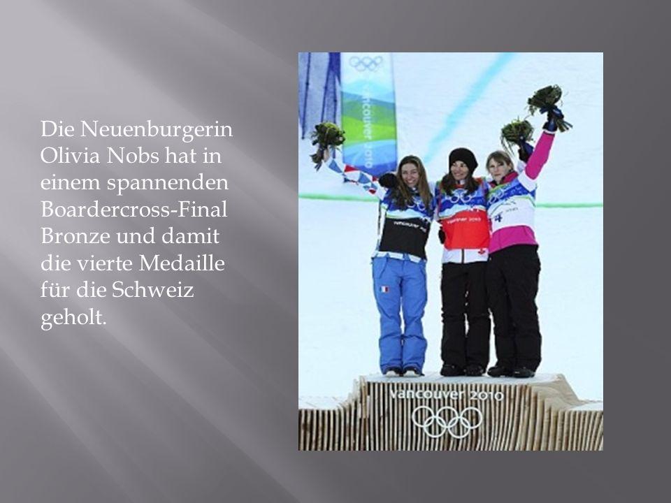 Die Neuenburgerin Olivia Nobs hat in einem spannenden Boardercross-Final Bronze und damit die vierte Medaille für die Schweiz geholt.